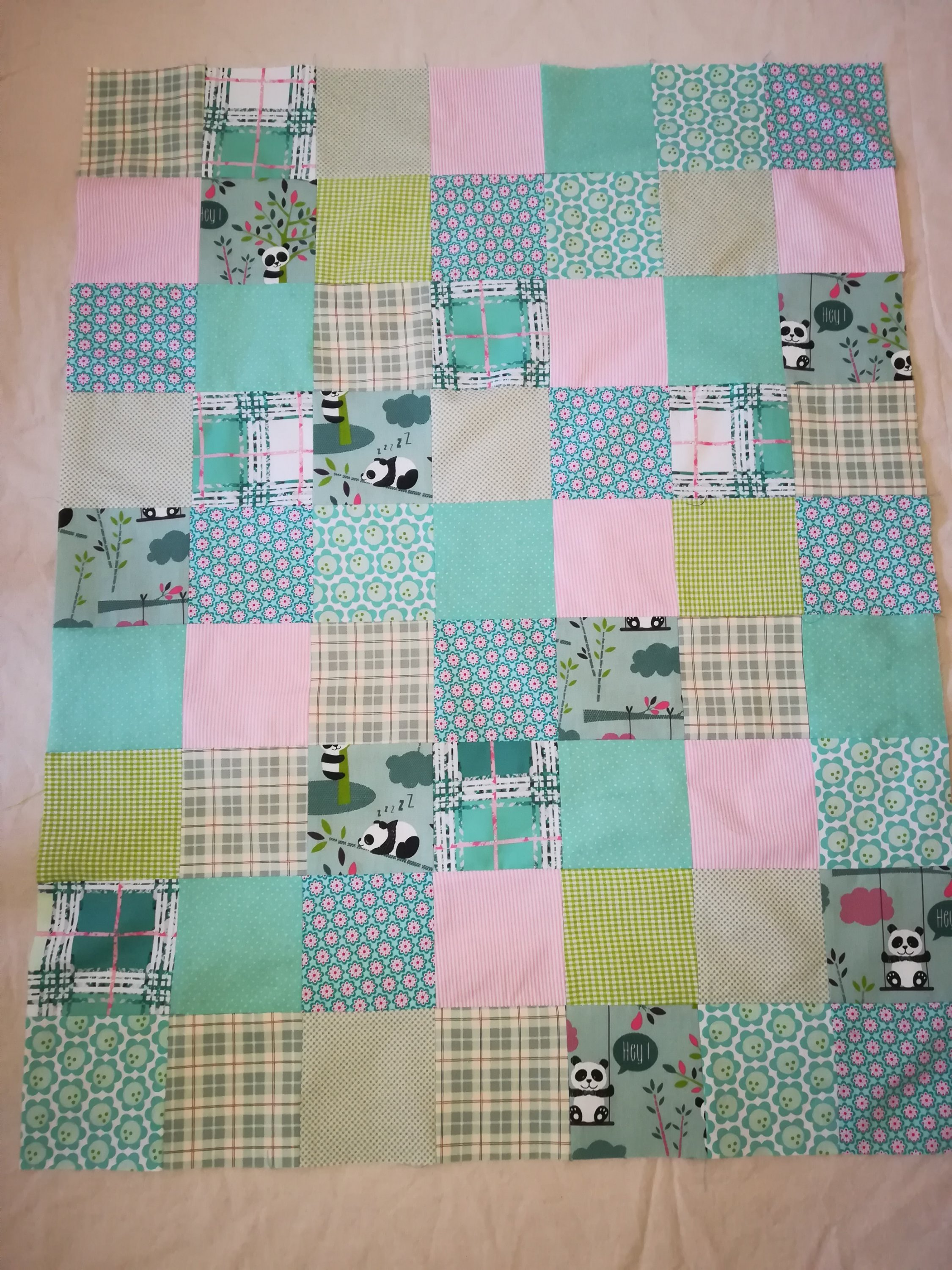 Patchwork, Babydecke, top