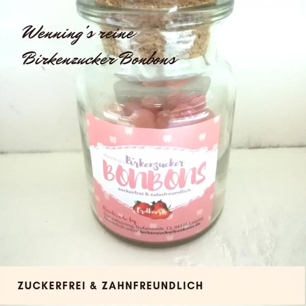 Birkenzuckerbonbons erdbeere